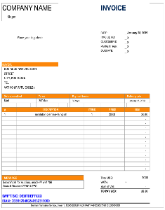 Rechnungsvorlagen - Invoice template ENGLISH