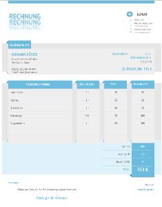 Rechnungsvorlagen - Qualitätsrechnungsvorlage