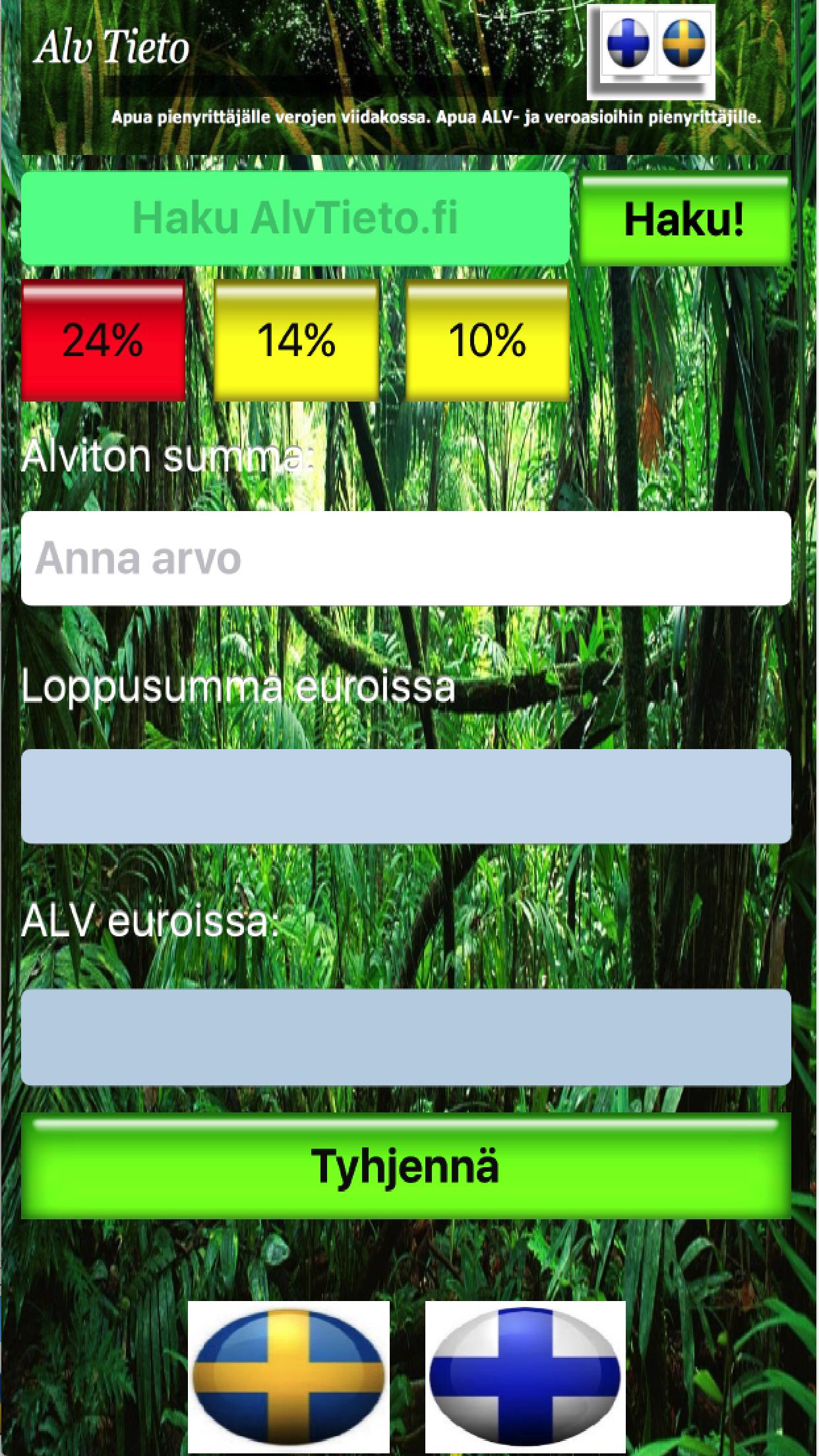 ALV-laskuri iPhone